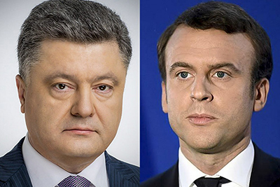 Президент України скоординував позиції з Президентом Франції Еммануелем Макроном напередодні зустрічі «Великої Сімки»