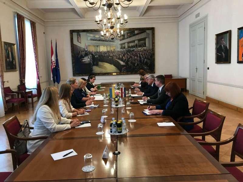 Українські та хорватські парламентарії обговорили питання адаптації національного законодавство до стандартів ЄС та реінтеграції непідконтрольних територій