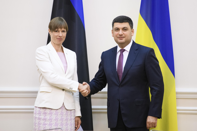 Естонія демонструє всебічну солідарність з Україною і підтримку реформ – зустріч Глави Уряду з Президентом Естонської Республіки
