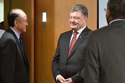 Президент України зустрівся з Президентом групи Світового банку Джим Йонг Кімом