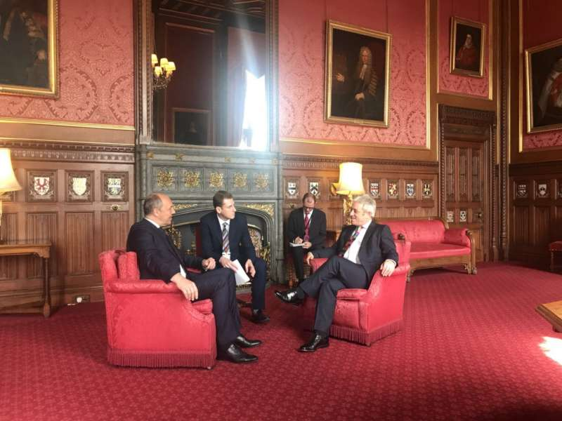 Голова Верховної Ради України Андрій Парубій провів зустріч зі Спікером Палати громад Великої Британії Джоном Беркоу